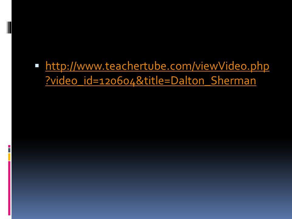  http://www.teachertube.com/viewVideo.php video_id=120604&title=Dalton_Sherman http://www.teachertube.com/viewVideo.php video_id=120604&title=Dalton_Sherman
