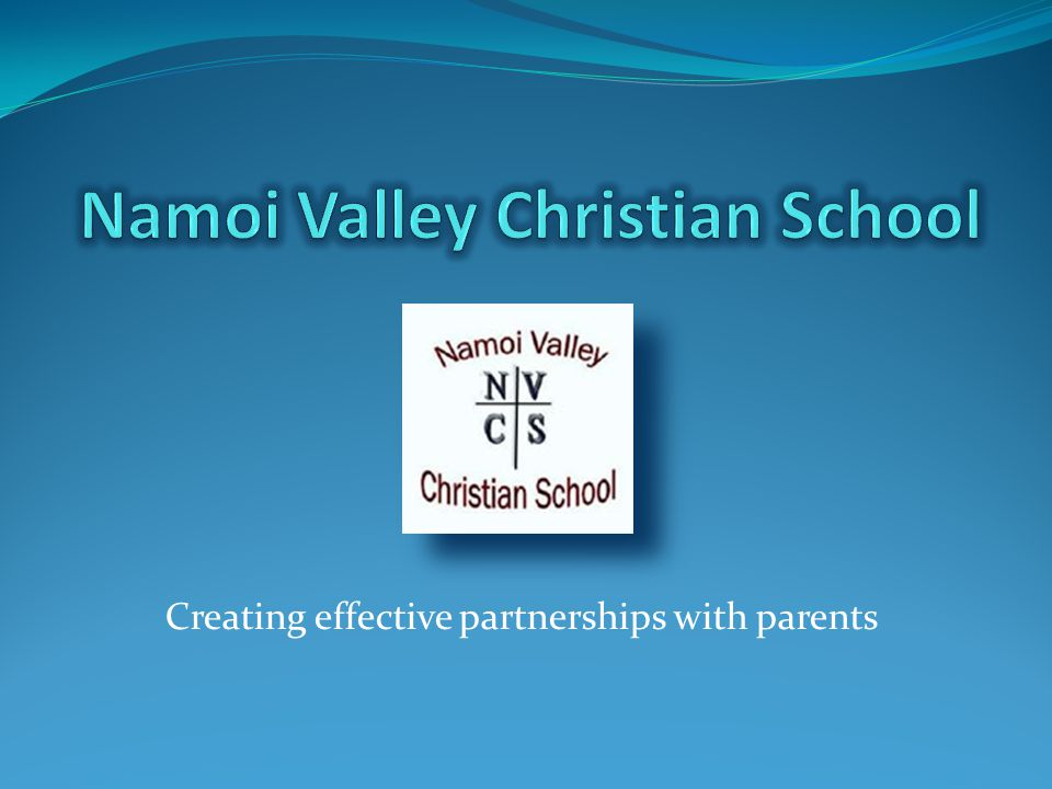 Creating effective partnerships with parents