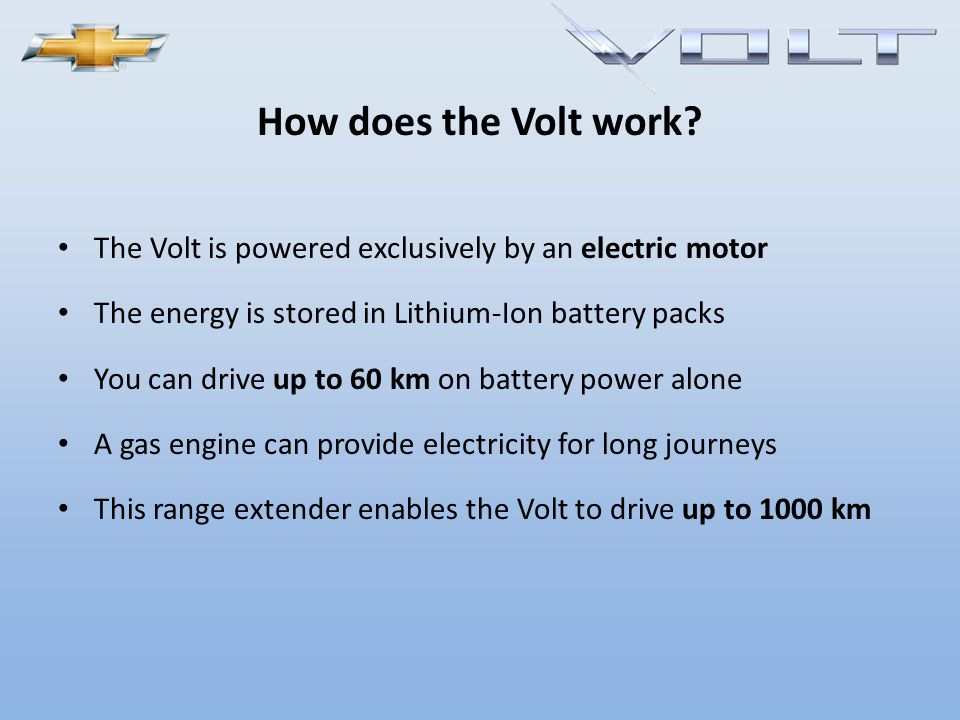 Now who is ready for Volt?