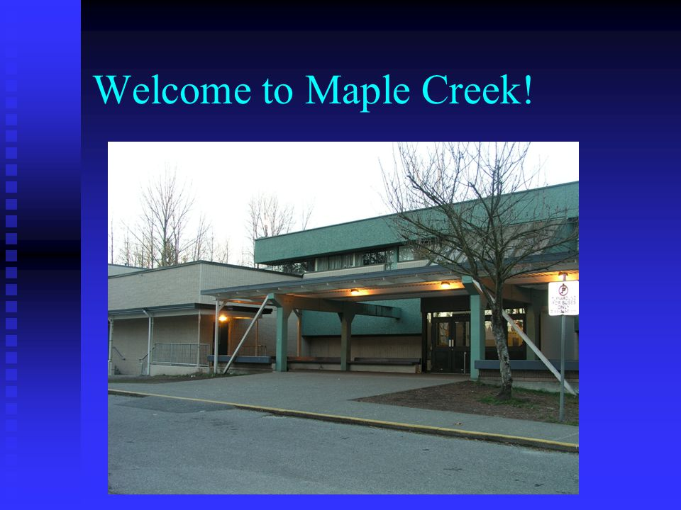 Maple Creek Middle School 625 students in grades 6-8 625 students in grades 6-8 15 international 120 FI 15 international 120 FI 44 teaching staff and 20 support staff 44 teaching staff and 20 support staff 6 Teams of approximately 4 classes per team 6 Teams of approximately 4 classes per team