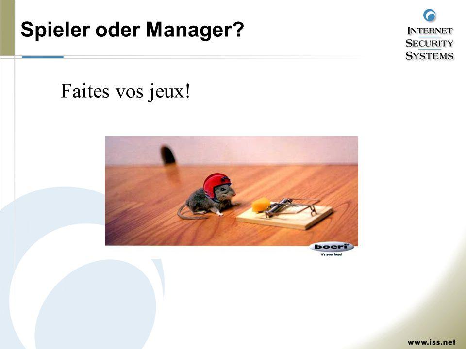 Spieler oder Manager? Faites vos jeux!