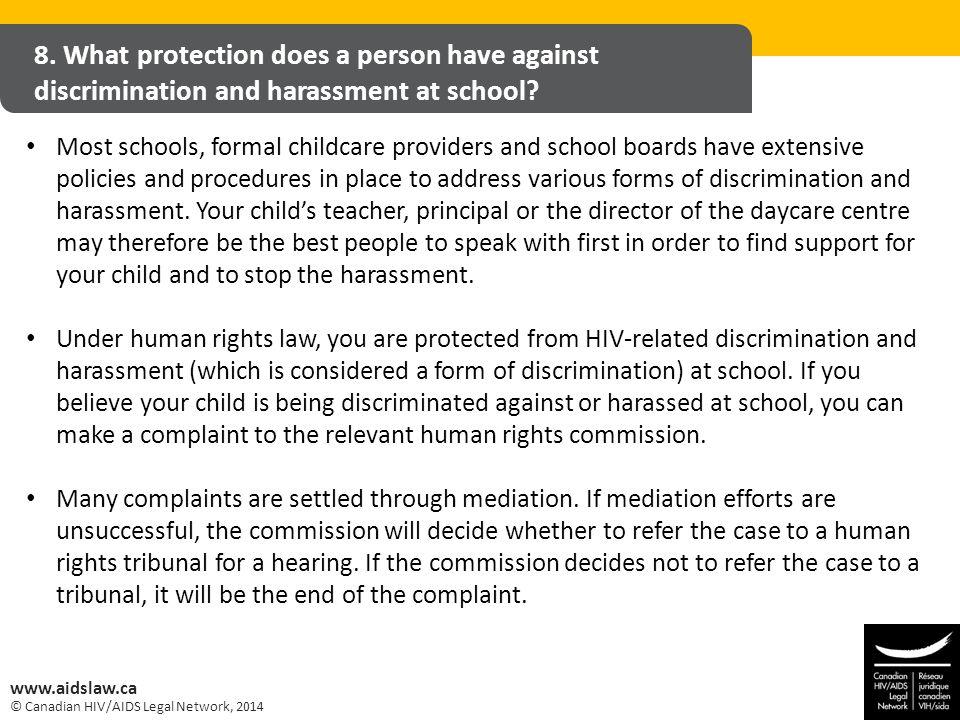 © Canadian HIV/AIDS Legal Network, 2014 www.aidslaw.ca 8.