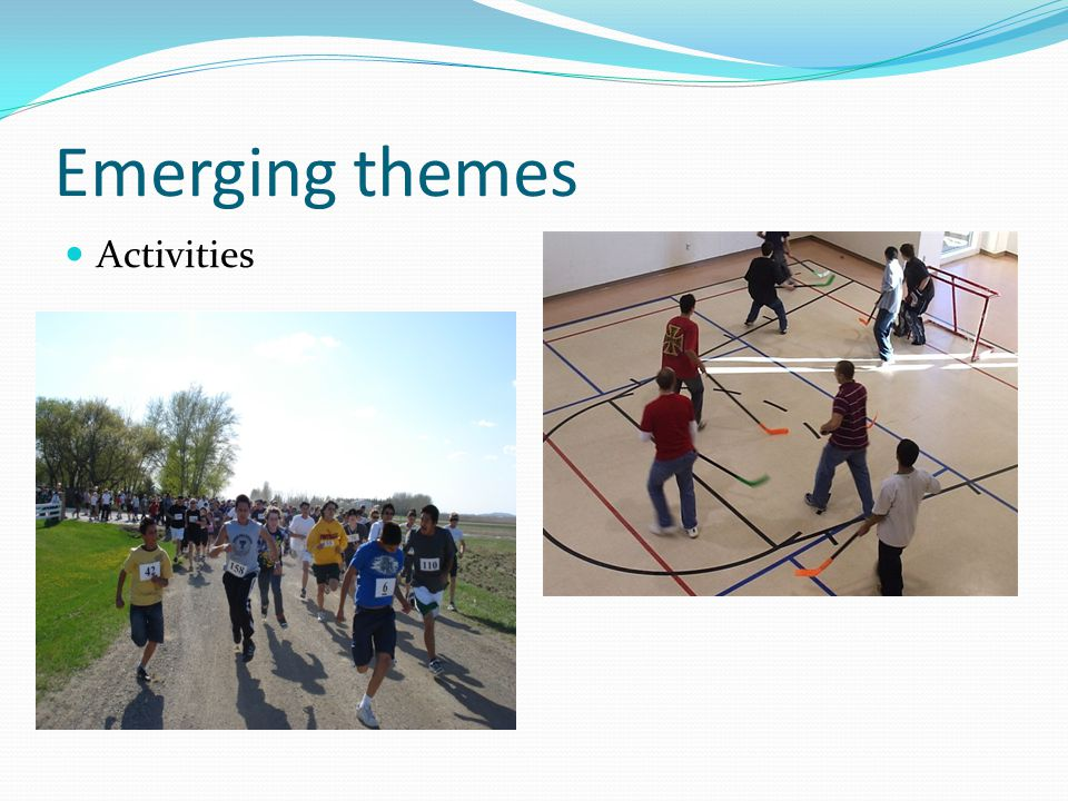 Emerging themes Activities