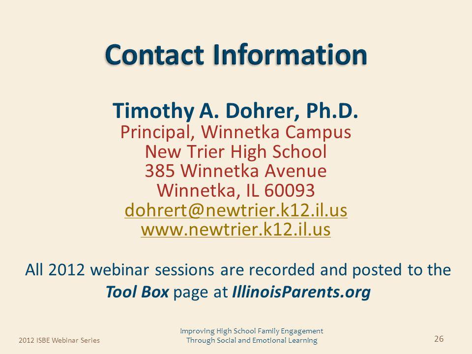 Timothy A. Dohrer, Ph.D.