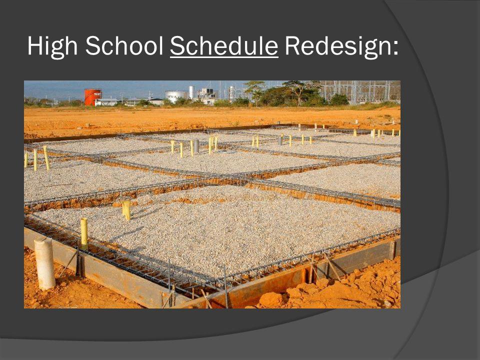 High School Schedule Redesign: