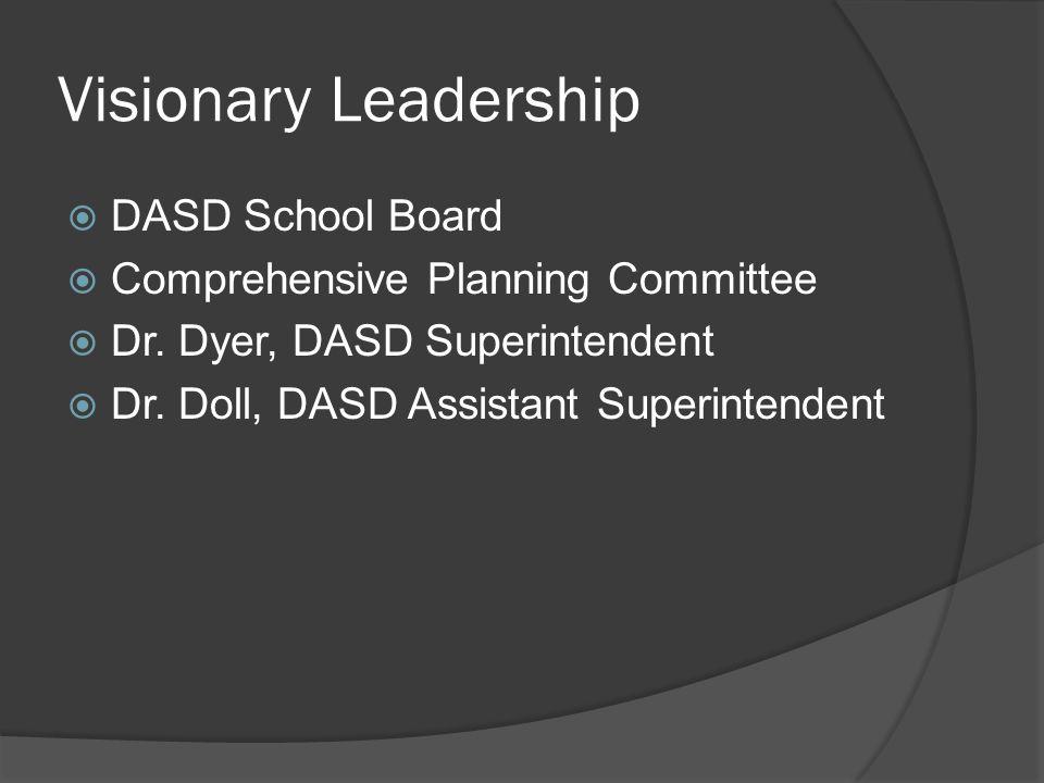 Visionary Leadership  DASD School Board  Comprehensive Planning Committee  Dr.
