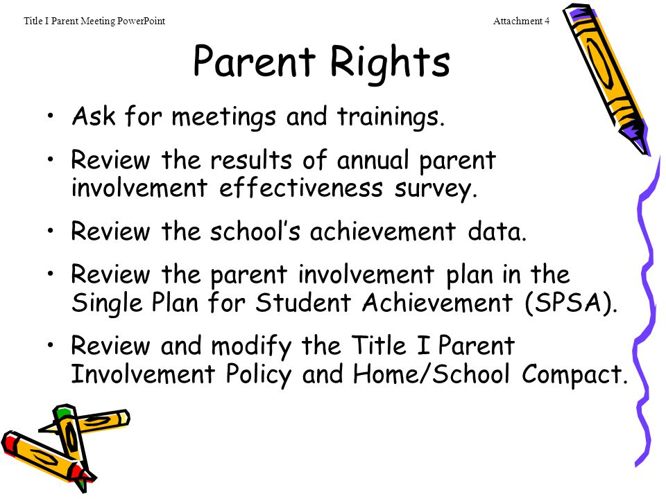 6 Parent Involvement The School Site Council (SSC) provides parents with an opportunity to be involved in the academic program of the school.