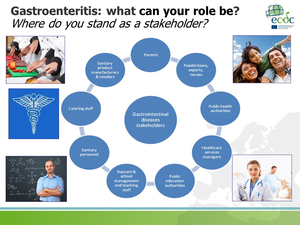 Gastroenteritis: what can your role be? Where do you stand as a stakeholder?