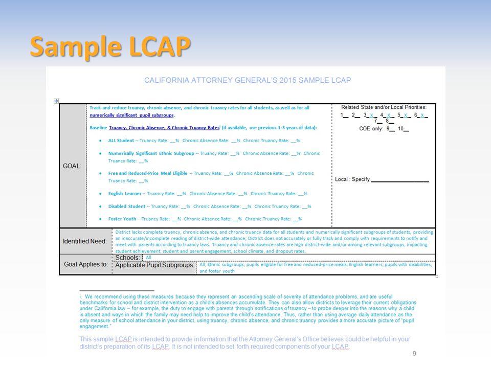 Sample LCAP