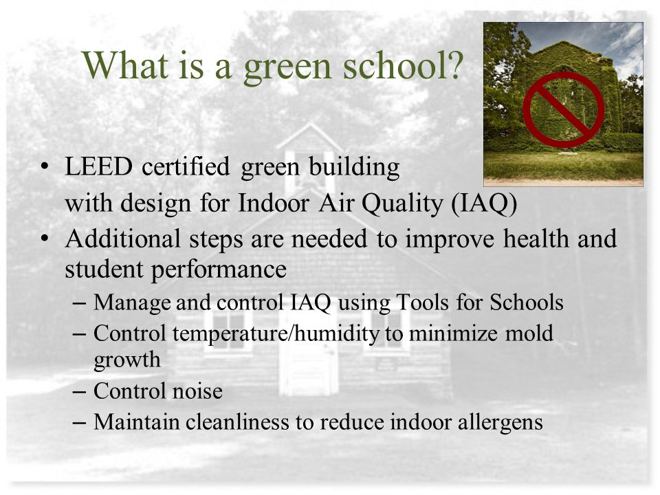 What is a green school.