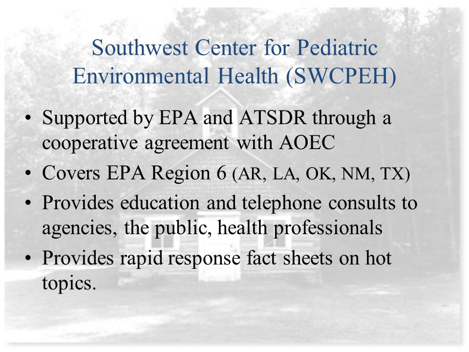 EPA High Performance Schools Program –http://www.epa.gov/iaq/schooldesign/highperformance.html Collaborative of High Performing Schools (CHPS) –http://www.chps.net/dev/Drupal/node EPA: Improvements in performance and health –http://www.epa.gov/iaq/schools/student_performance/evidence.html Green Schools: Attributes for health and learning, NAS –http://www.nap.edu/openbook.php?record_id=11756&page=1 Resources and evidence