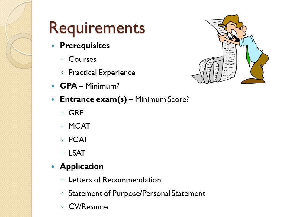 Phd prerequisites