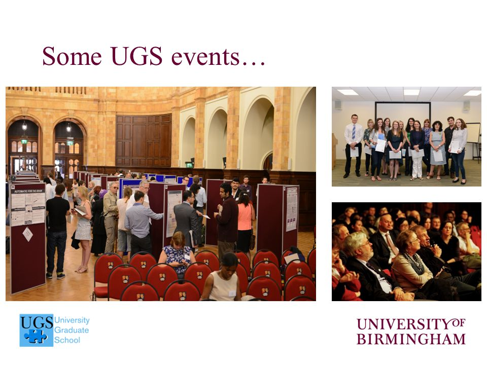 Some UGS events…