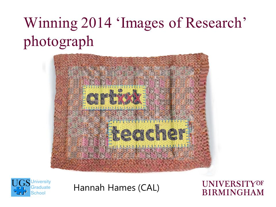 Winning 2014 'Images of Research' photograph Hannah Hames (CAL)