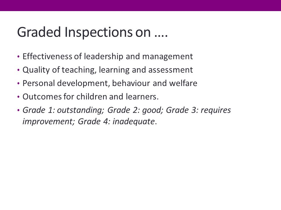Graded Inspections on ….
