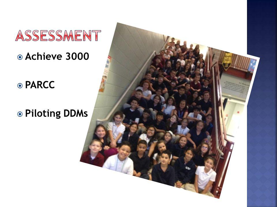 Achieve 3000  PARCC  Piloting DDMs