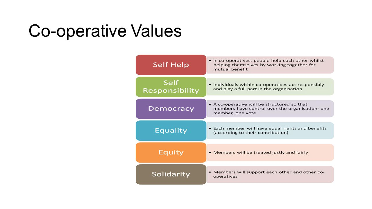Co-operative Values
