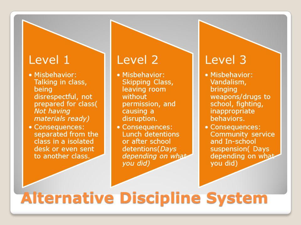 Alternative Discipline System