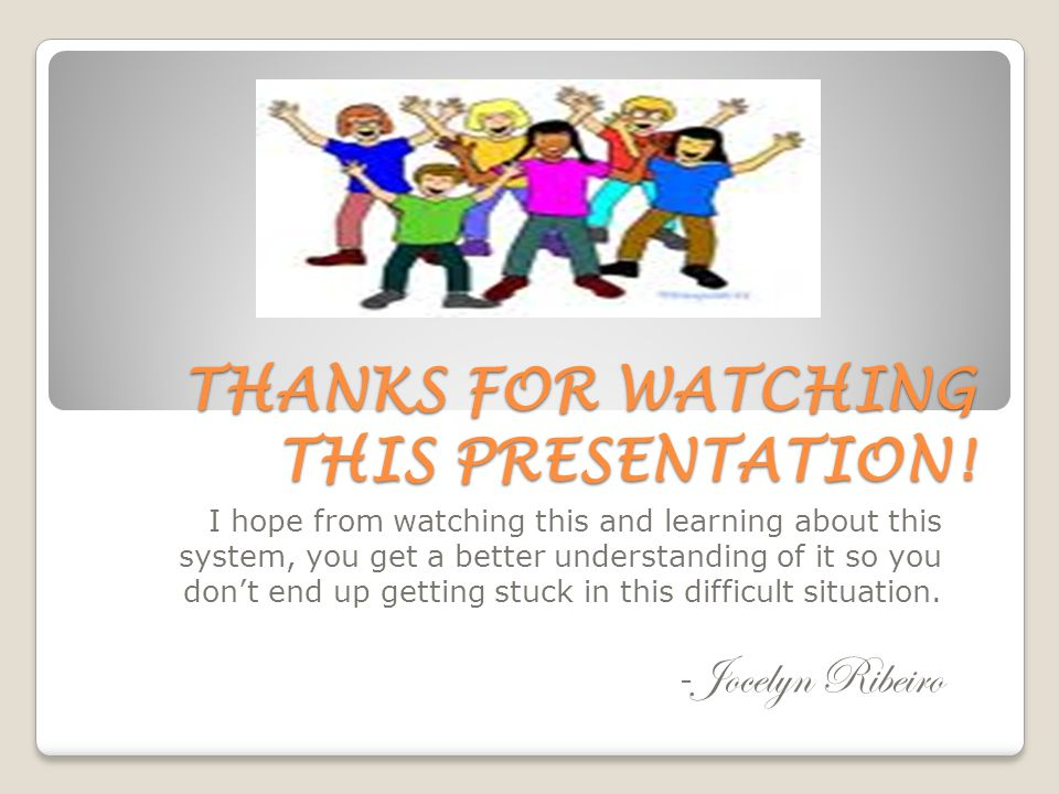 THANKS FOR WATCHING THIS PRESENTATION.