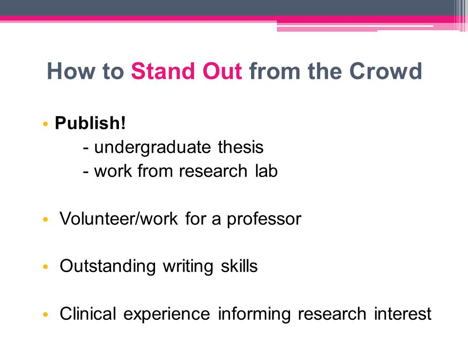 How to Stand Out from the Crowd Publish.