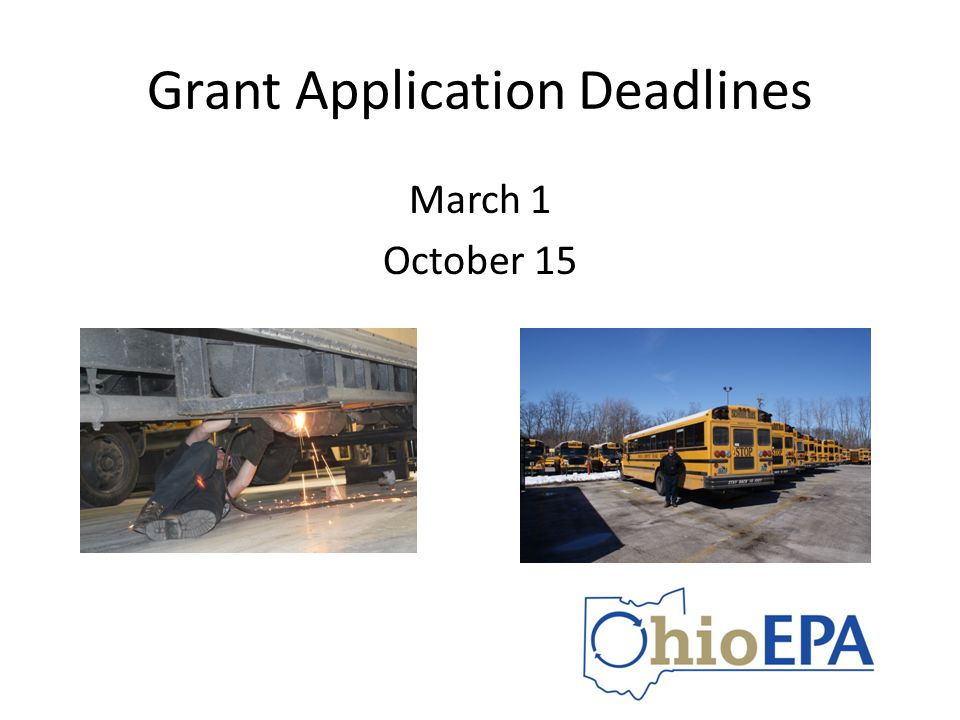 Grant Application Deadlines March 1 October 15
