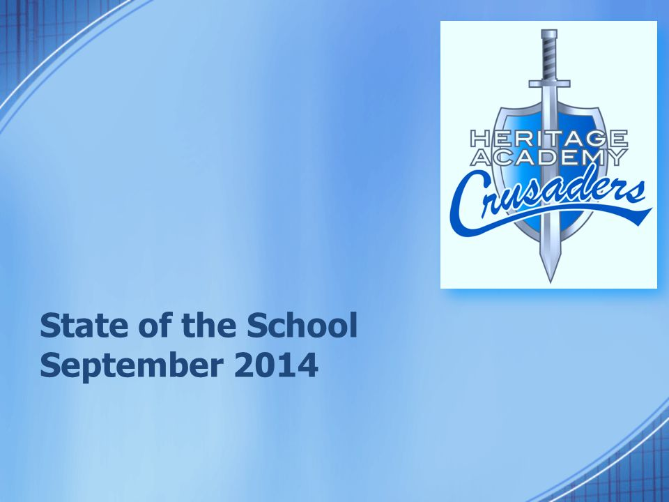 State of the School September 2014