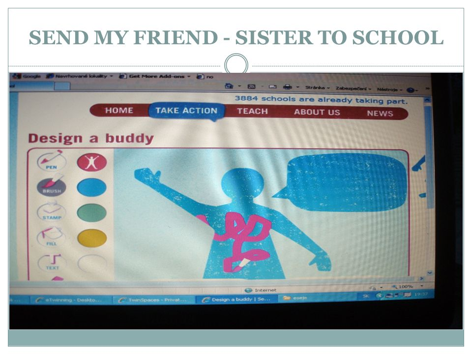 SEND MY FRIEND - SISTER TO SCHOOL