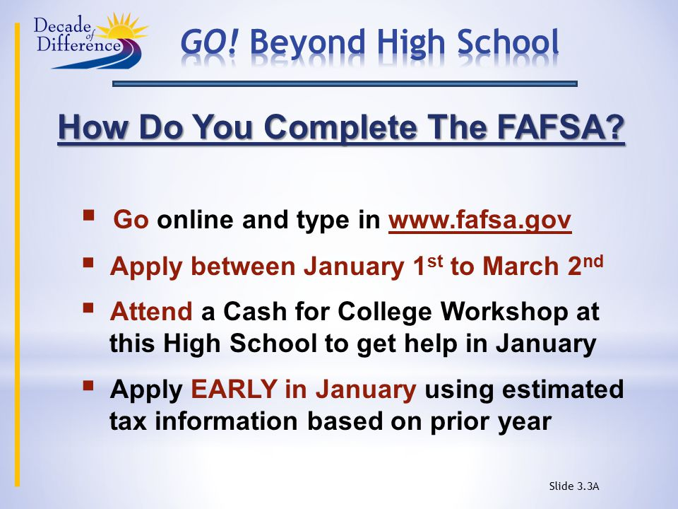 How Do You Complete The FAFSA.
