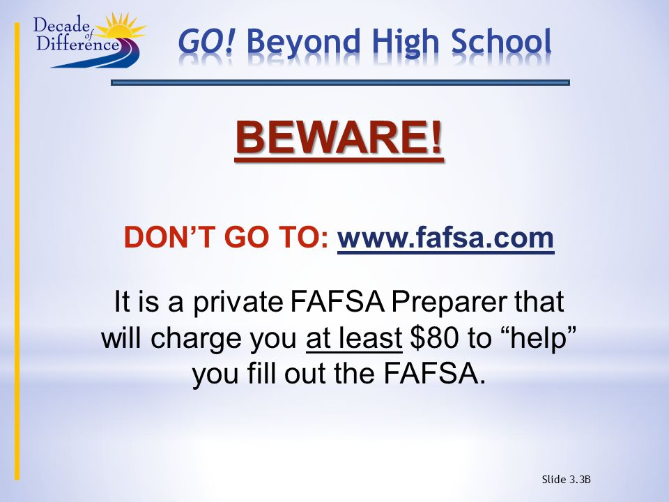 Slide 3.3A How Do You Complete The FAFSA.