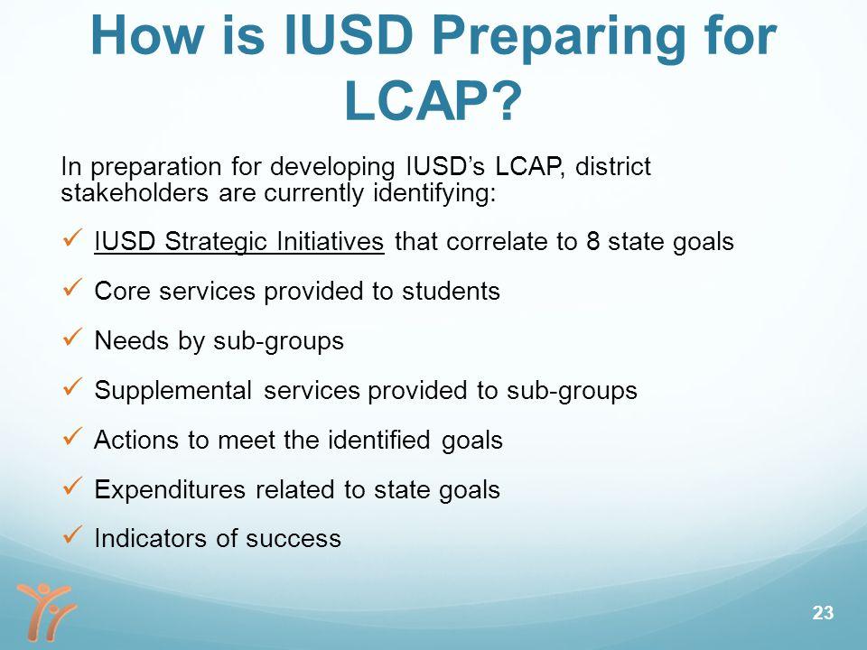 How is IUSD Preparing for LCAP.