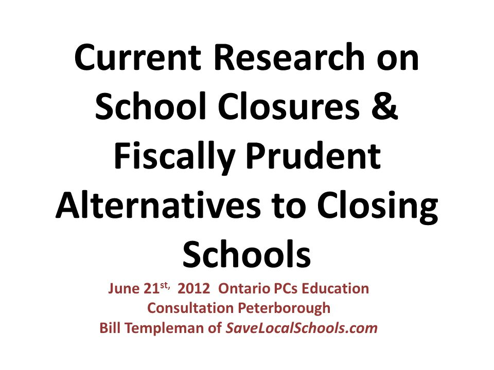 NO SCHOOLS SHOULD CLOSE. INSTEAD, FIND COMMUNITY PARTNERS TO SHARE USE OF EMPTY SPACE