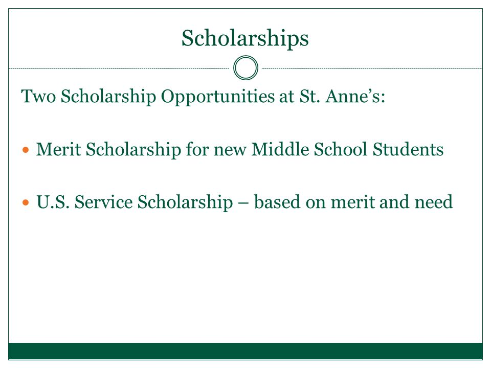 Scholarships Two Scholarship Opportunities at St.