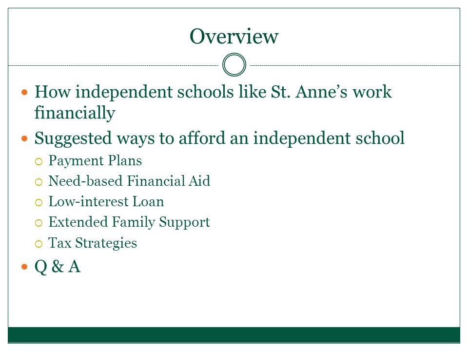 Overview How independent schools like St.