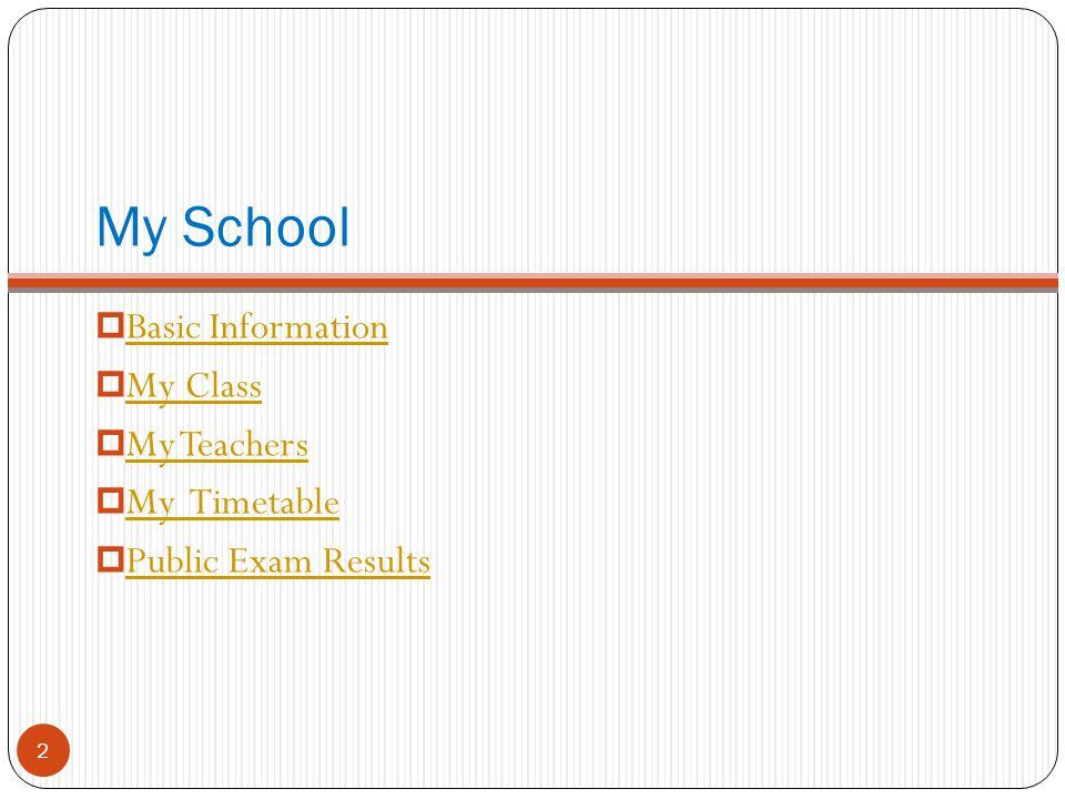 Madam LKL Sec Sch of MFBM My School 1