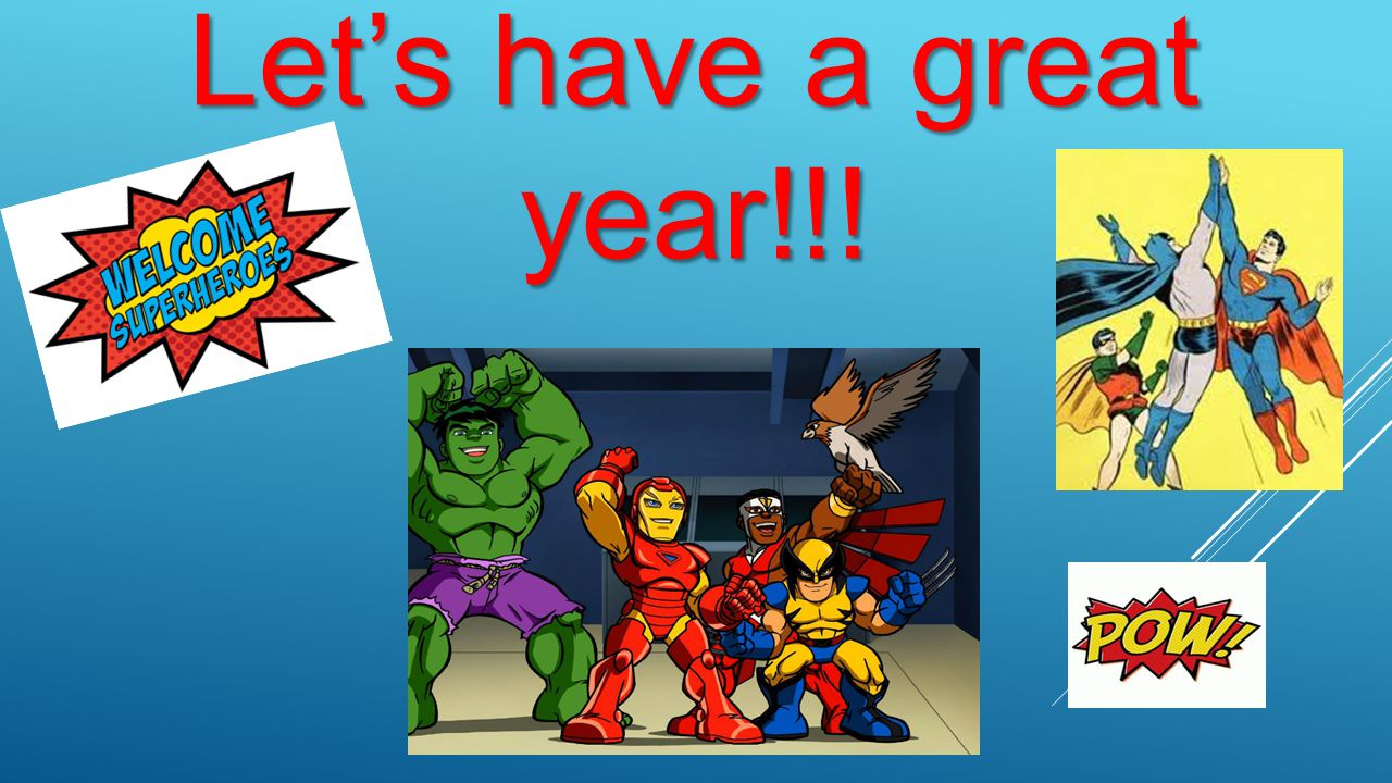 Let's have a great year!!!