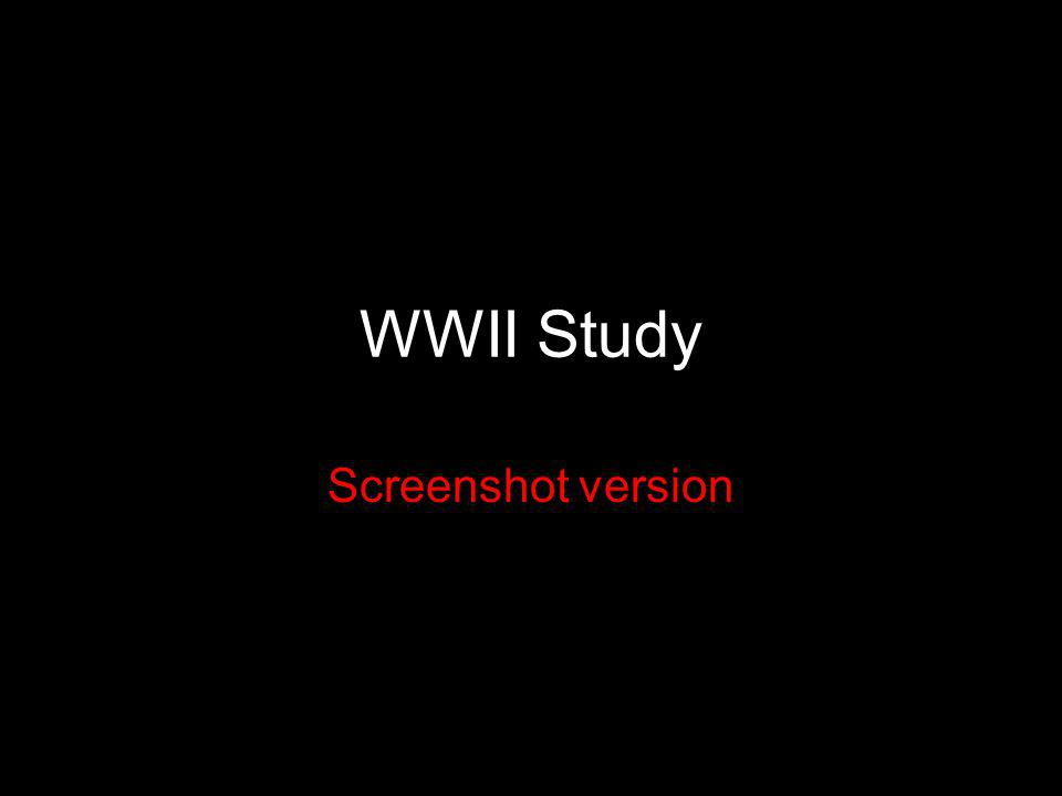 WWII Study Screenshot version