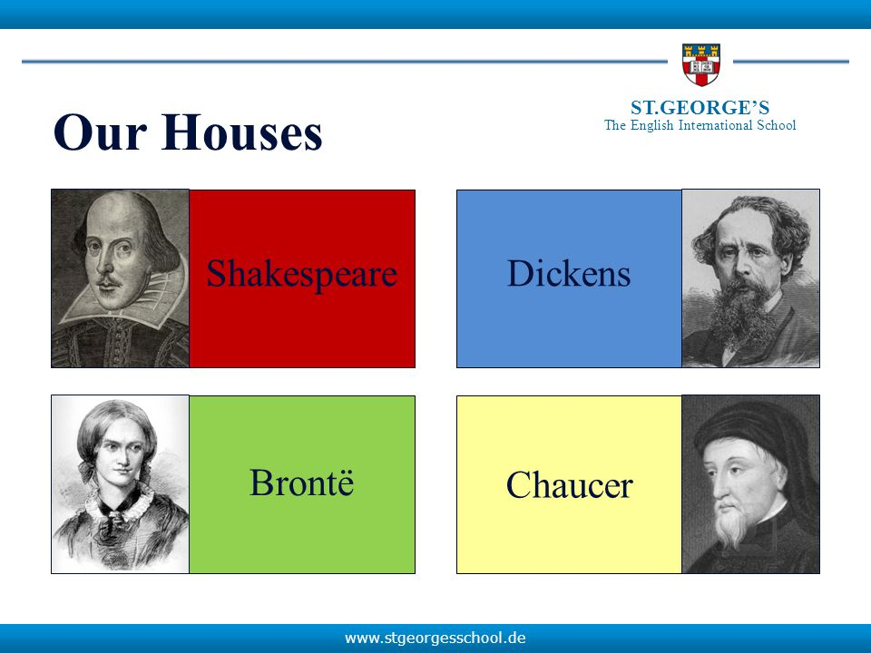 www.stgeorgesschool.de ST.GEORGE'S The English International School How houses are allocated...