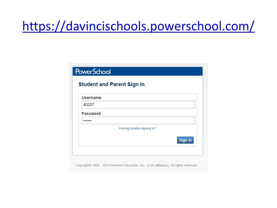 https://davincischools.powerschool.com/