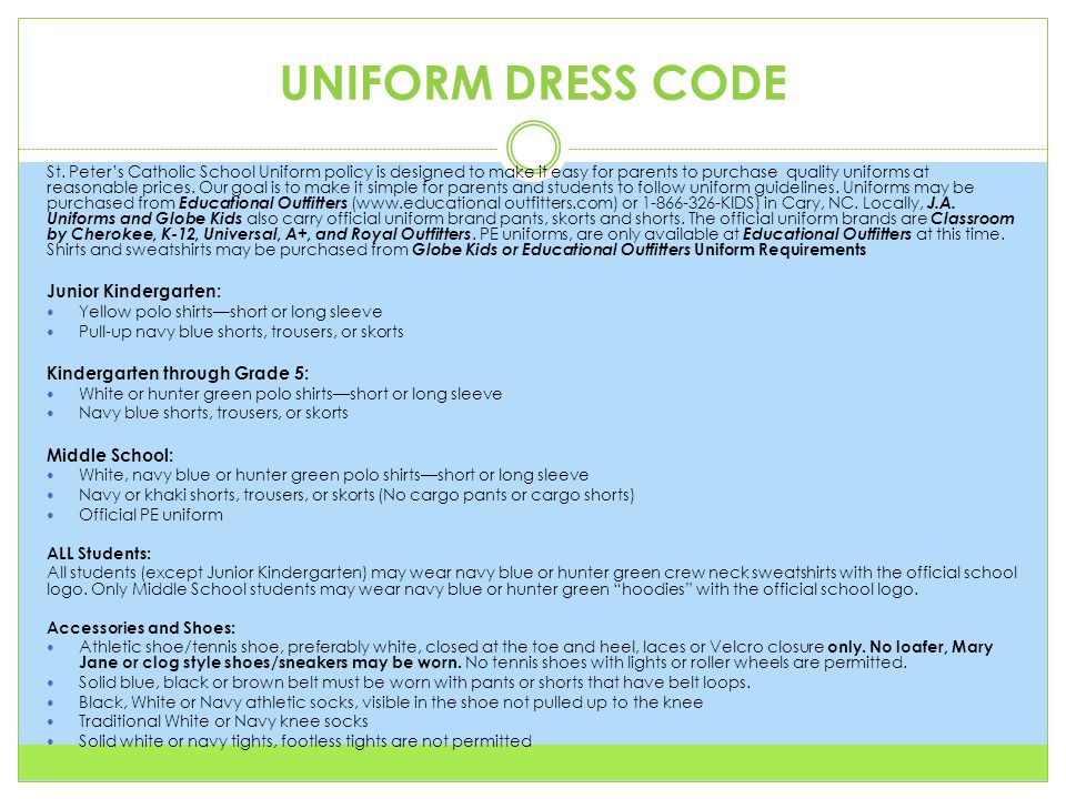 UNIFORM DRESS CODE St.