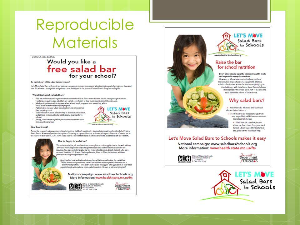 Reproducible Materials