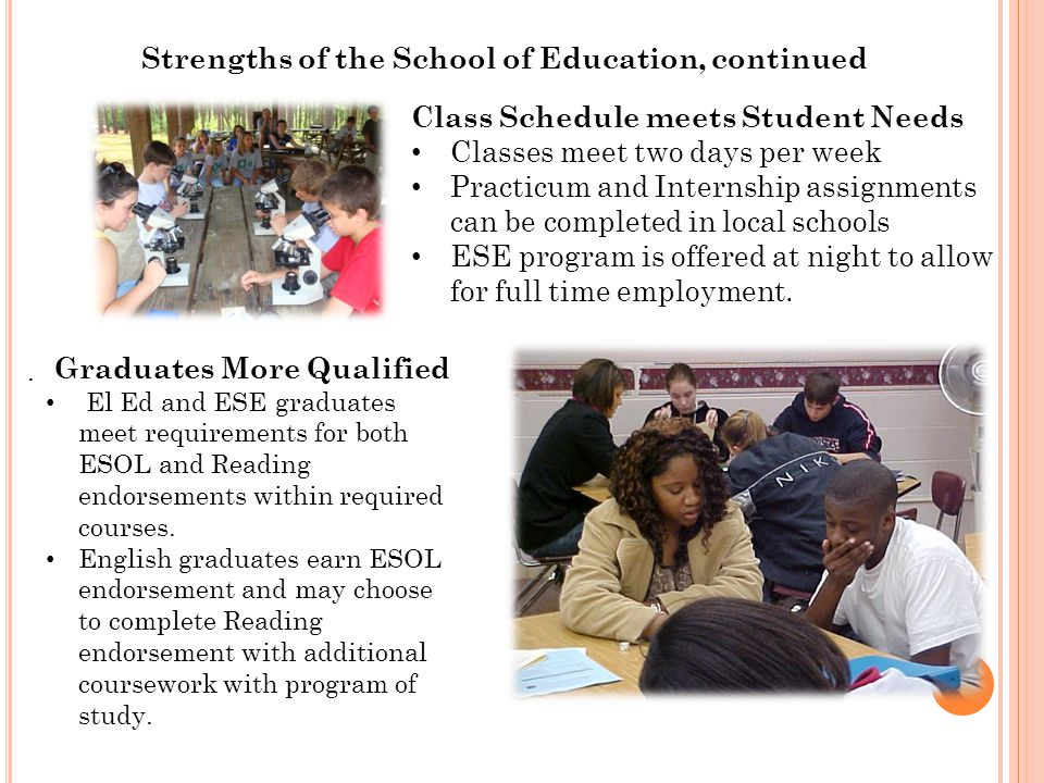 Chipola College School of Education A Higher Degree of Learning