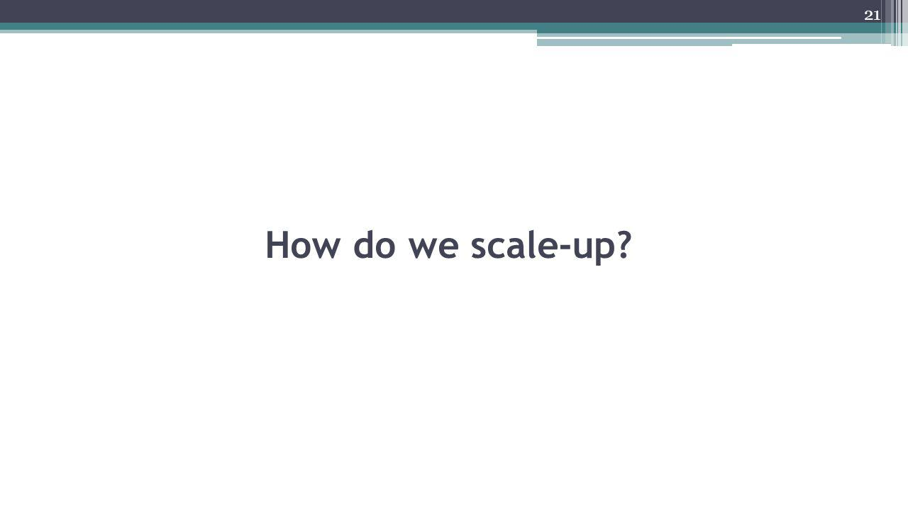 How do we scale-up? 21