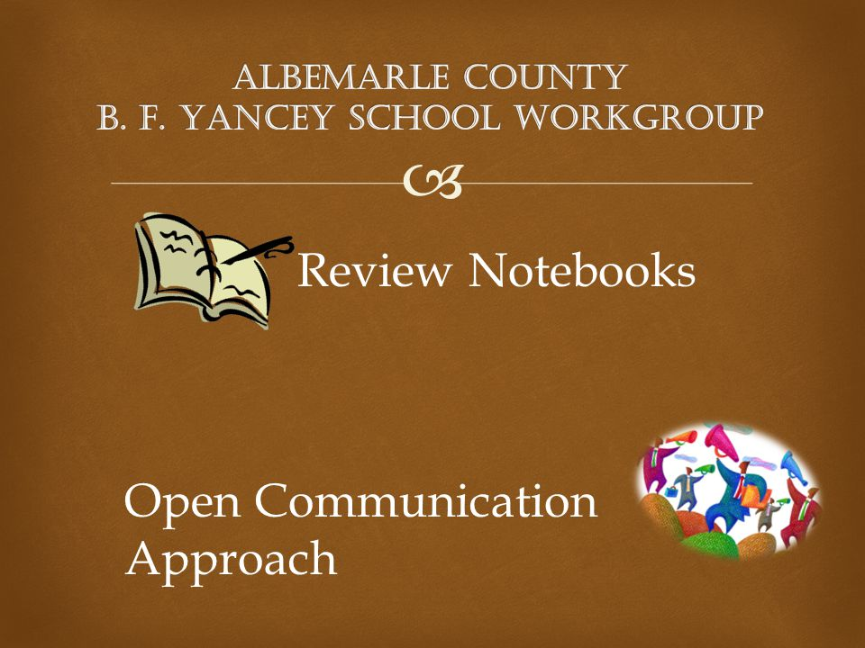  Review Notebooks Open Communication Approach
