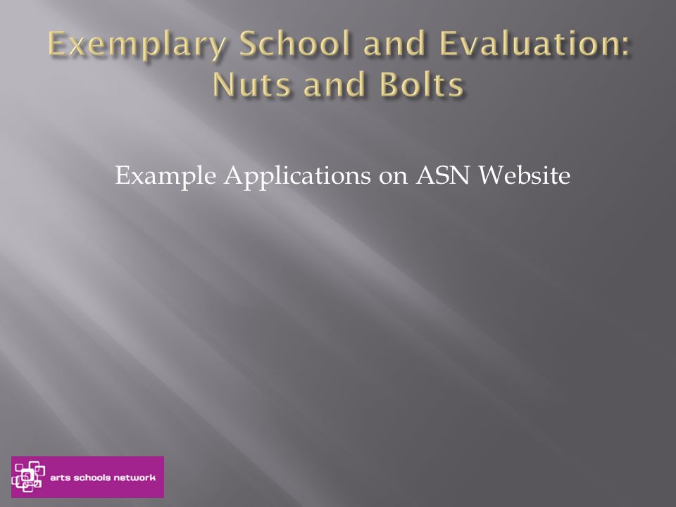 Example Applications on ASN Website
