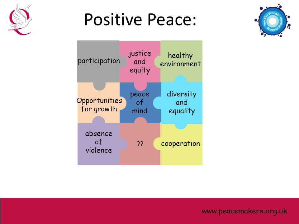 peace of mind Opportunities for growth justice and equity .