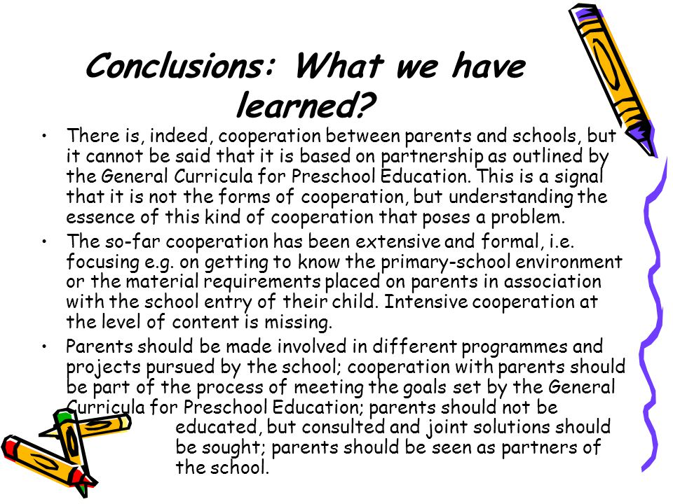 Conclusions: What we have learned.