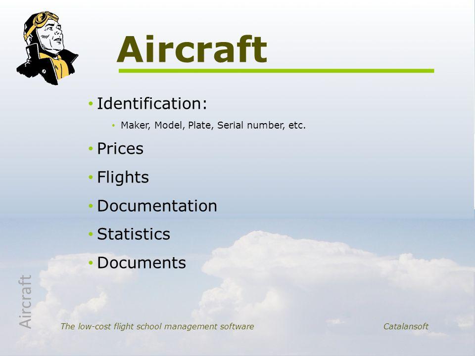 Identification: Maker, Model, Plate, Serial number, etc.