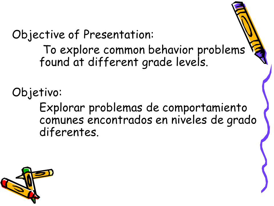 Goal: To aide parents in seeking solutions or remedies to common behavior problems.