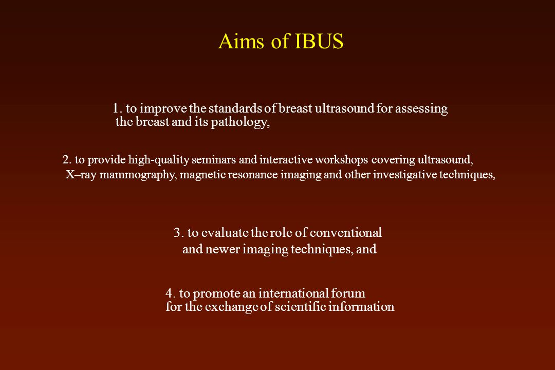 Aims of IBUS 1.