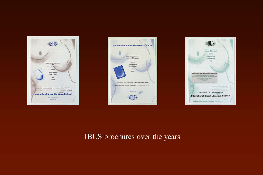 IBUS brochures over the years